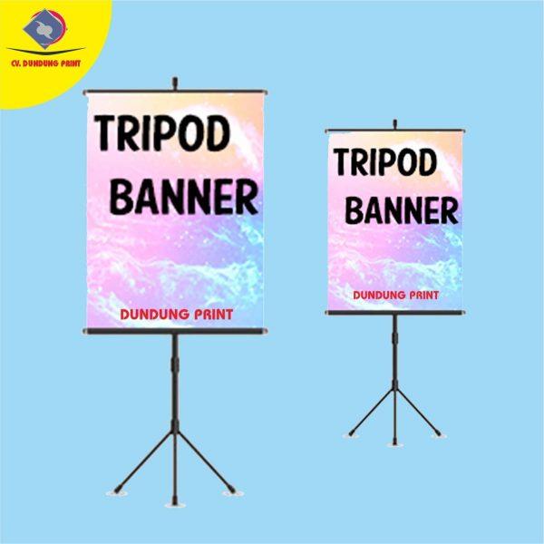 cetak banner tripod makassar